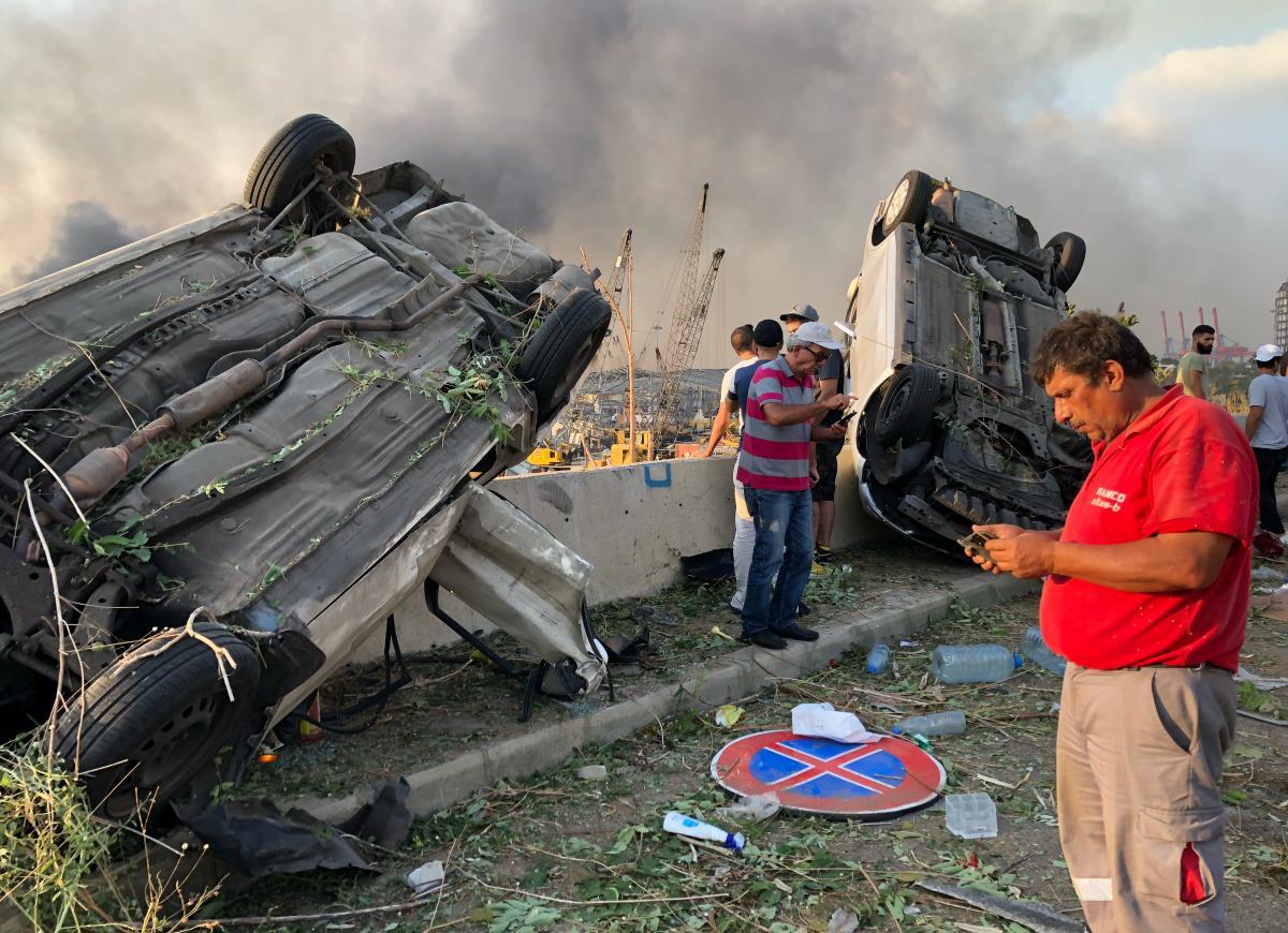 Последствия взрыва вБейруте/ фото REUTERS