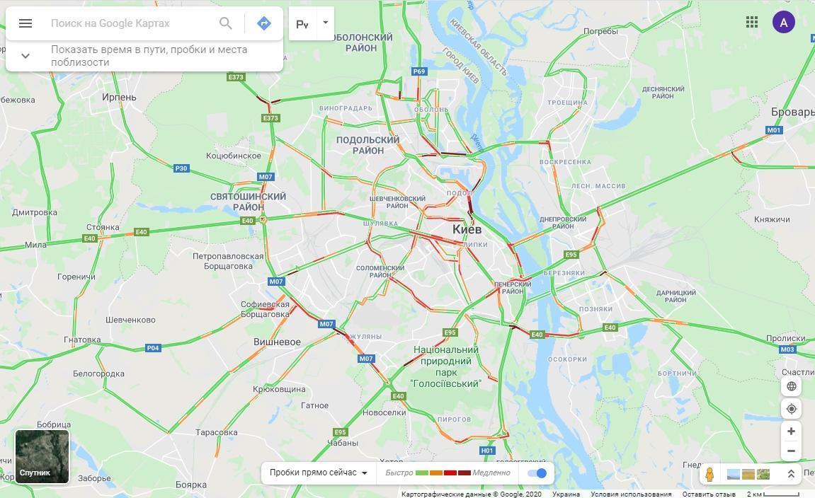 Як проїхати без заторів / Google Maps