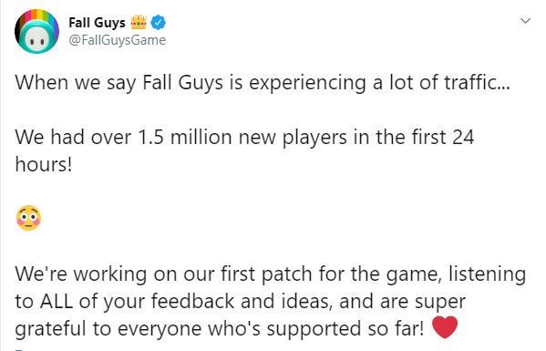 Розробники поділилися в Twitter новинами про кількість гравців / скріншот