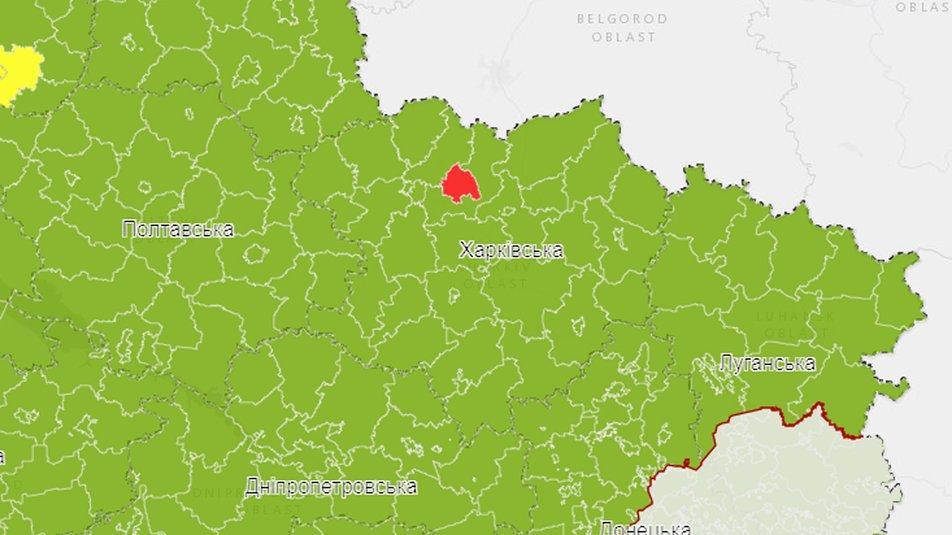 Візуалізація епідемічних показників на рівні районів та міст обласного значення — інтерактивна карта Центру громадського здоров'я МОЗ України