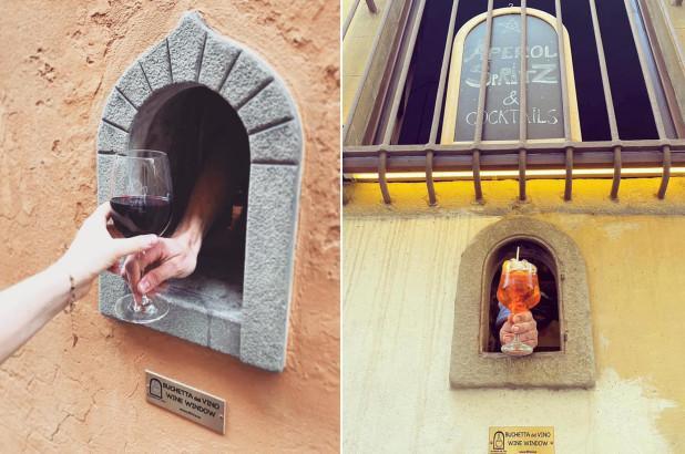Кілька віконець відкрилися по всійФлоренції / фото ЄП