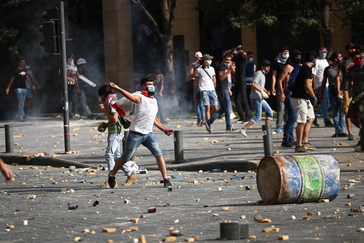 Протести в Бейруті / REUTERS