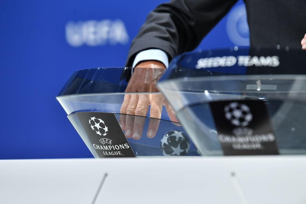 Жеребкування Ліги чемпіонів / фото twitter.com/UEFAcom_ru