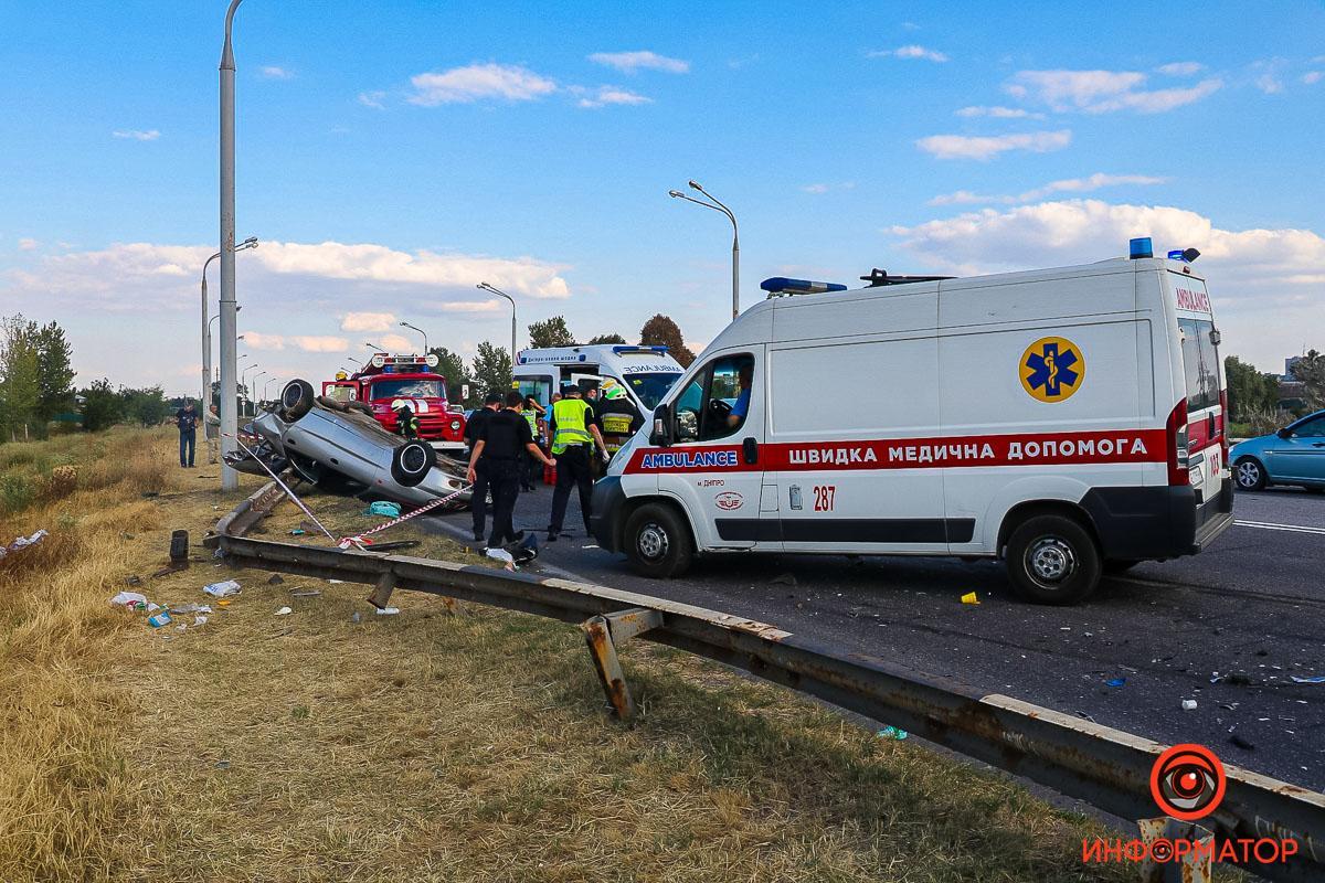 Авария произошла на Полтавском шоссе / фото Информатор