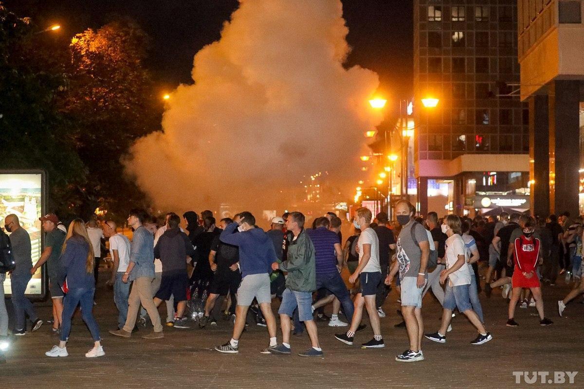 Протести у Мінську / фото Tut.by via REUTERS