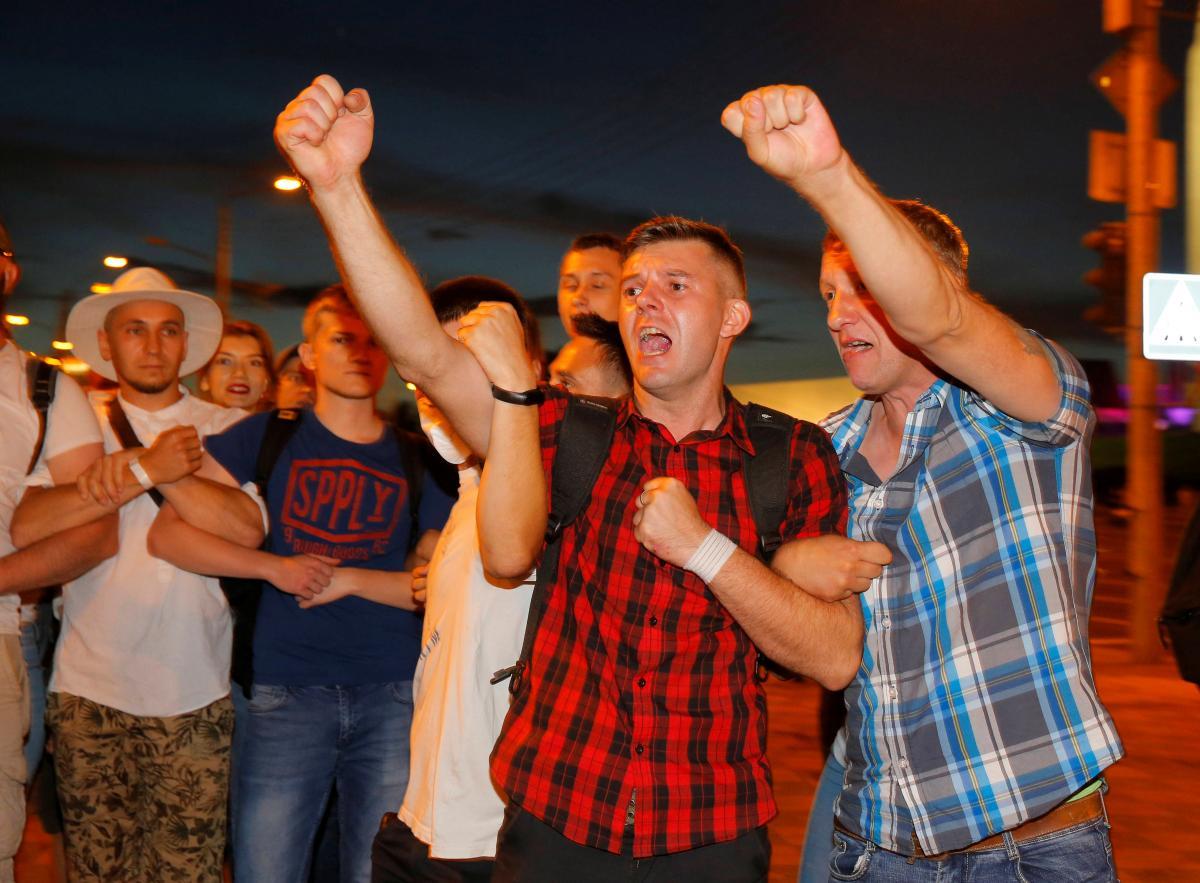 Протести в Мінську / фото REUTERS