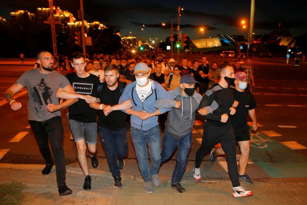 Протести в Мінську 9 августа / фото REUTERS