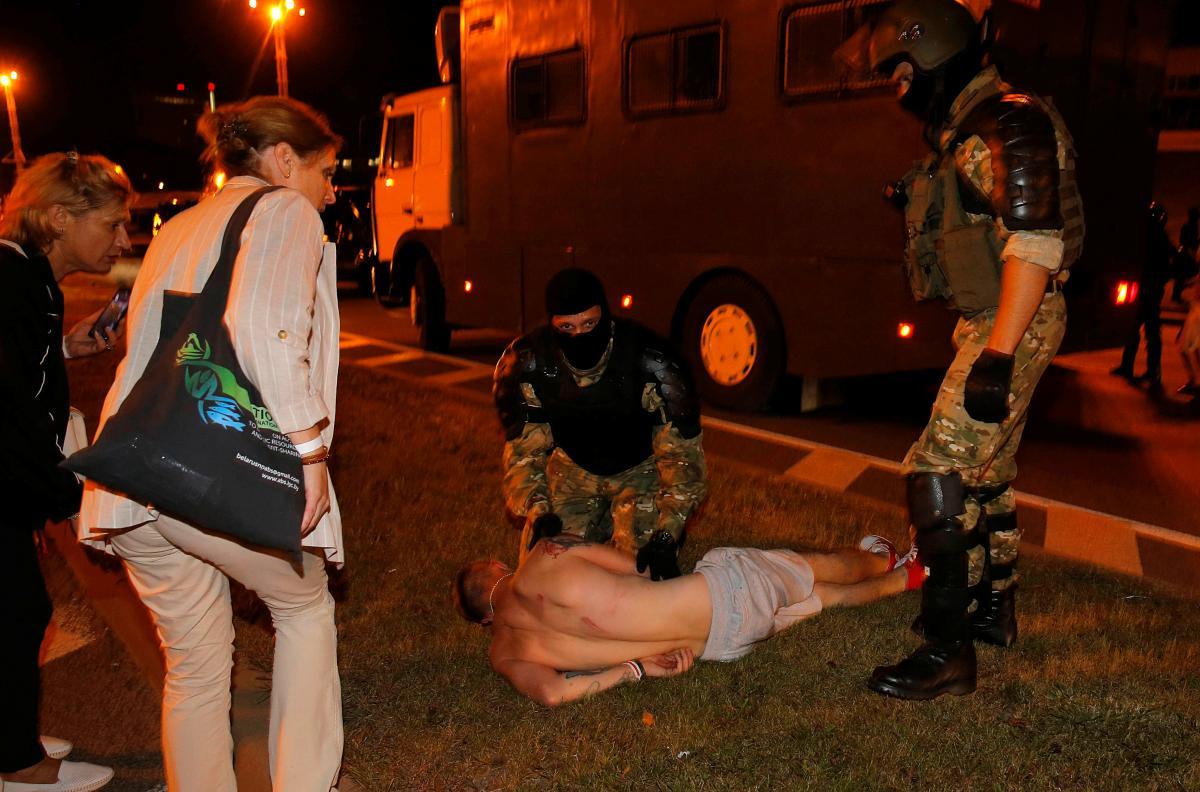Протесты в Минске / фото REUTERS