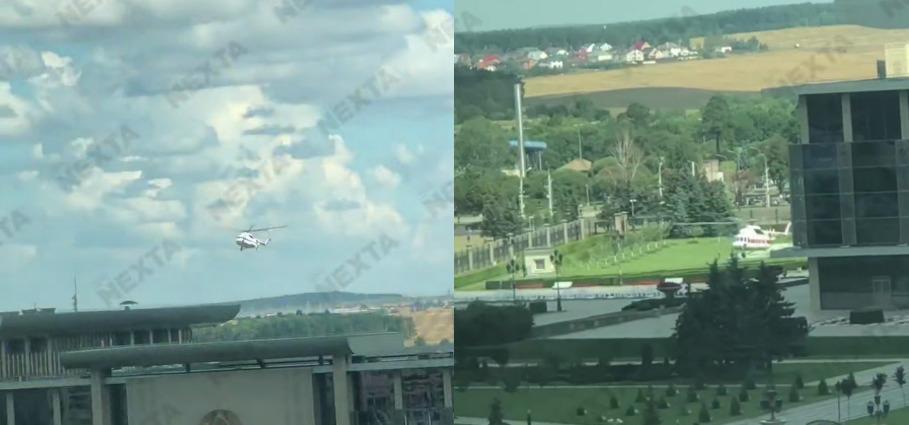 Вертолет заметили у Дворца Независимости / Скриншот