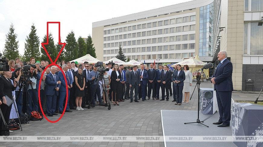 """Петро Симоненко """"засвітився"""" на прес-конференції Лукашенко / фото belta.by"""