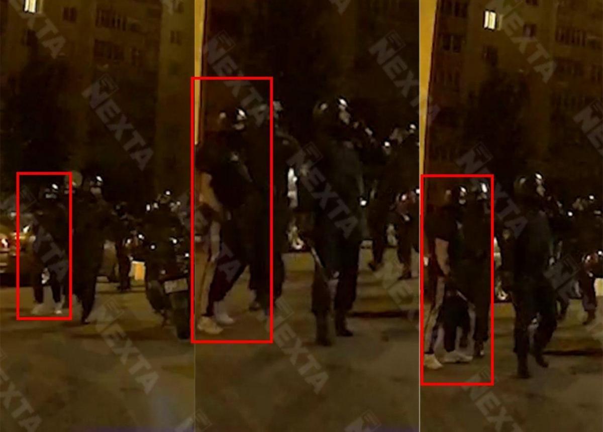 "На протестах заметили ""титушек"" / скриншот Nexta"