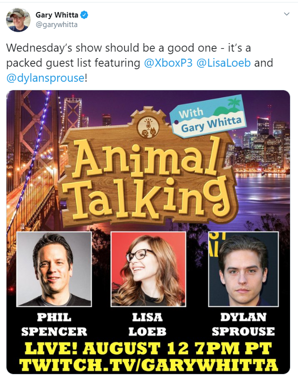 Філ Спенсер дасть інтерв'ю в Animal Crossing: New Horizons / twitter.com/garywhitta
