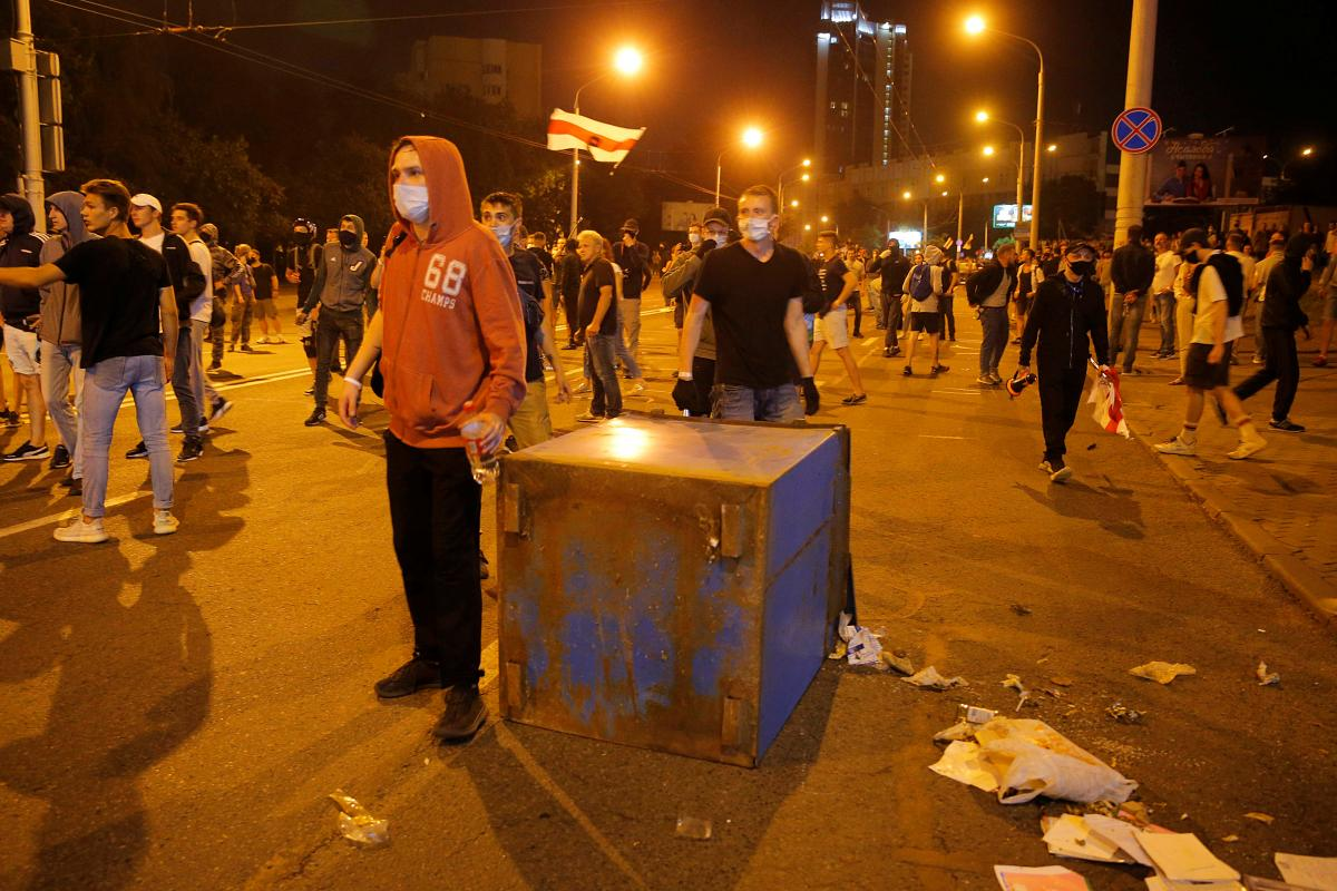 Протесты в Минске / REUTERS