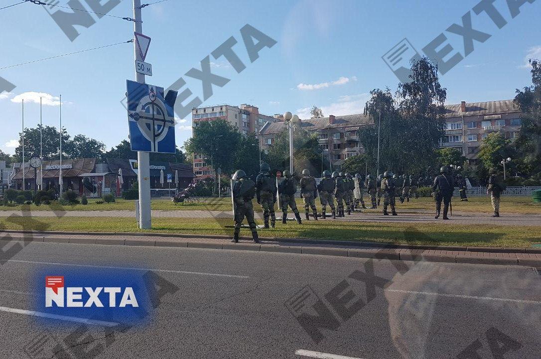 Силовиками укрепляют районы Минска / t.me/nexta_live