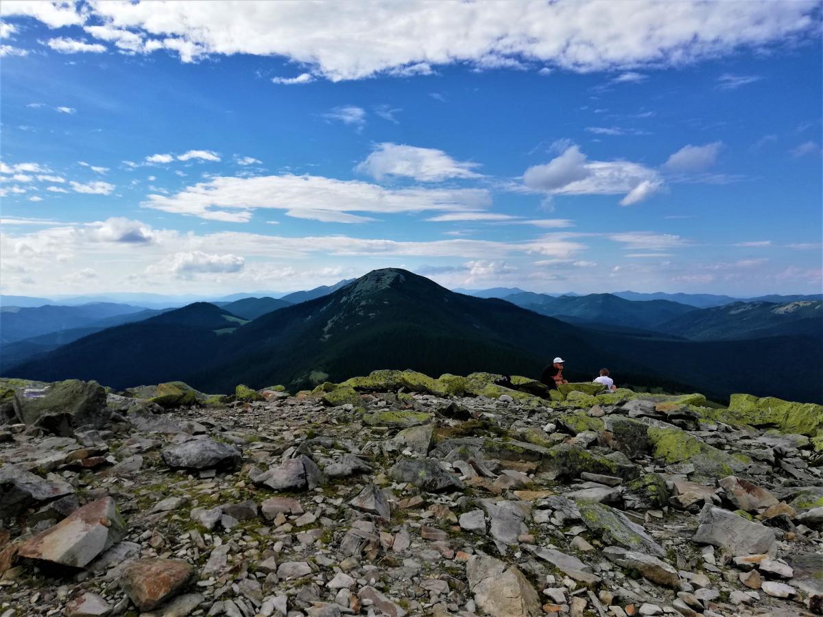 До вершины Хомяка доходят самые рисковые / фото Марина Григоренко