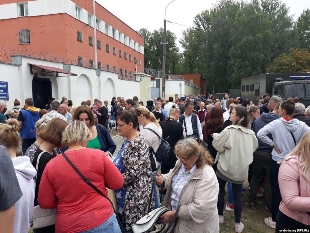 Митинг родственников задержанных под СИЗО / Радыё Свабода - Беларусь