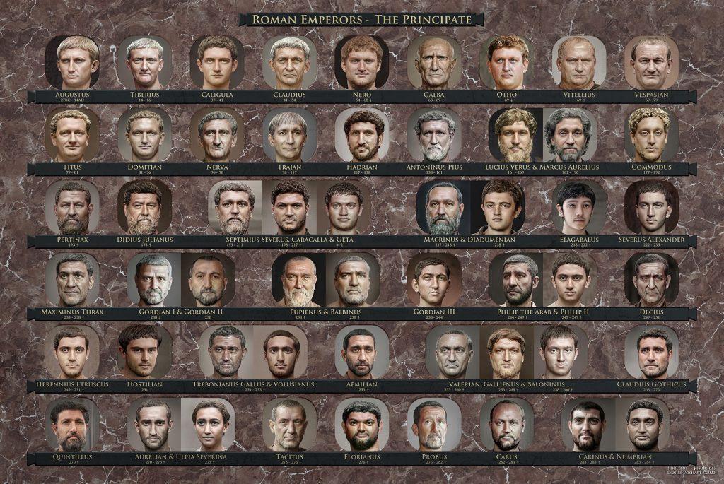 Римські імператори / Фото Daniel Voshart