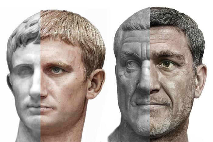 Римські імператори Август і Максимінус Фракс / Фото Daniel Voshart