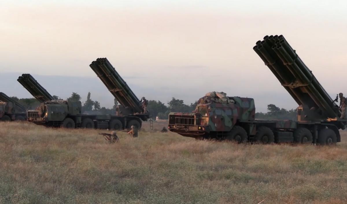 Военные провели тренировку на юге страны \ скриншот с видео