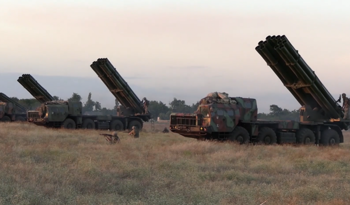 The drills were held in the country's south / Screenshot