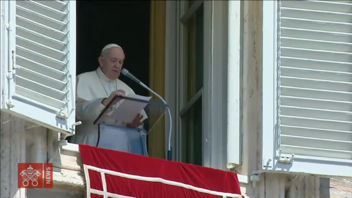 Папа Римский призвалпрекратить насилие / скриншот из видео