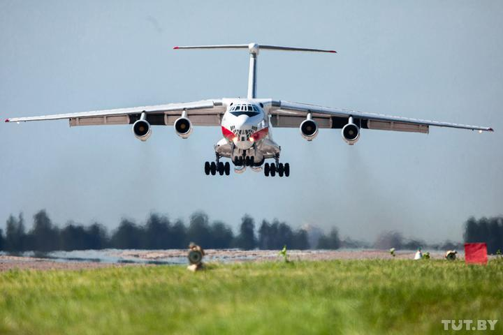 Belarusian military transport aircraft fly to Russia / Photo from TUT.by