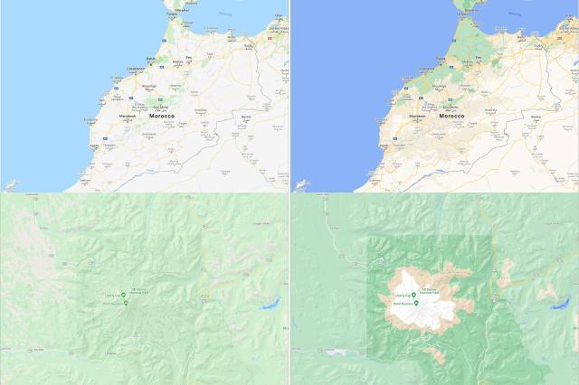 Обновленные карты сервиса Google / Фото google map
