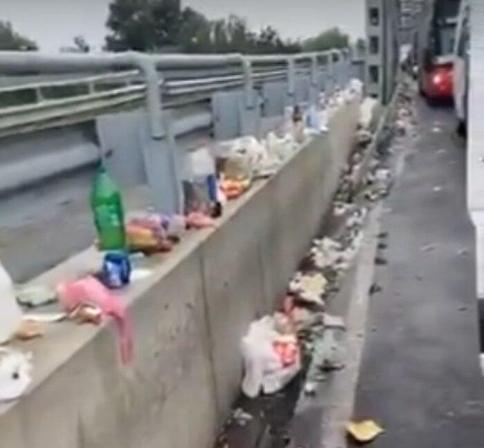 Украинцы устроили свалку на границе с Венгрией / скриншот с youtube