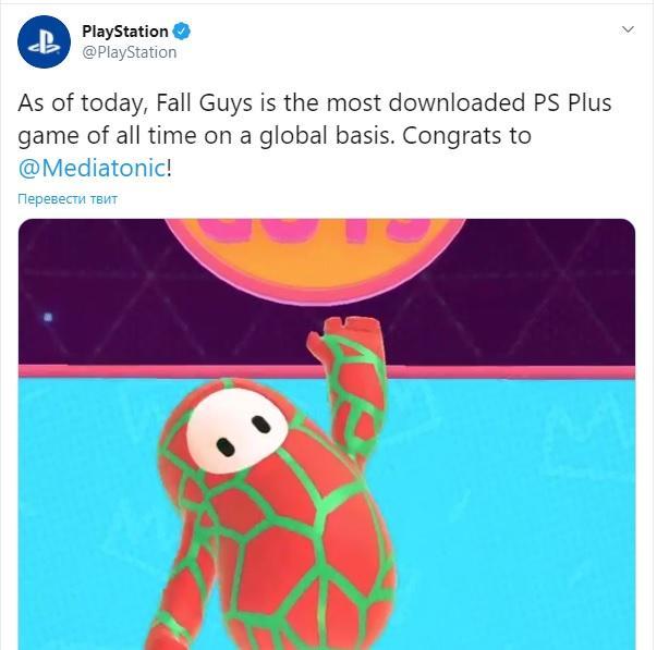Fall Guys стала самой скачиваемой игрой на PS Plus / скриншот