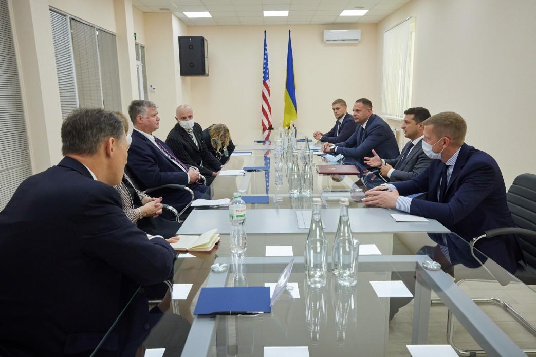 Президент Зеленський на зустрічі зі Стівеном Біганом/ Фото Офіс президента