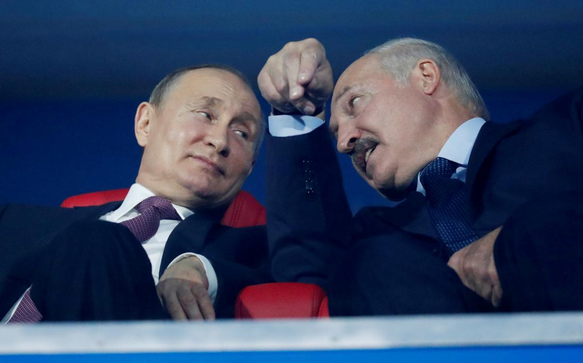 Путін і Лукашенко поспілкувалися телефоном/ фотоREUTERS