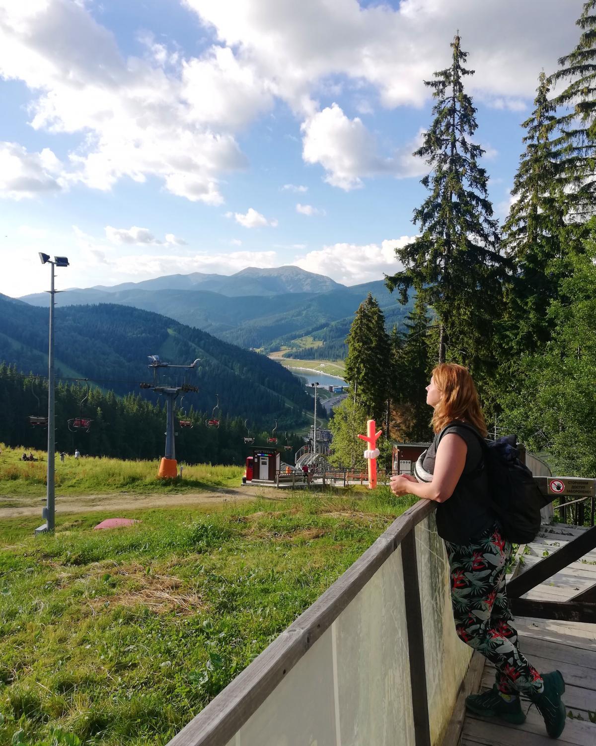 Пейзаж с горы Буковель / фото Марина Григоренко