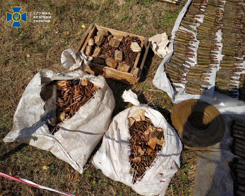 В схроне нашли более 7 тысяч патронов / фото СБУ