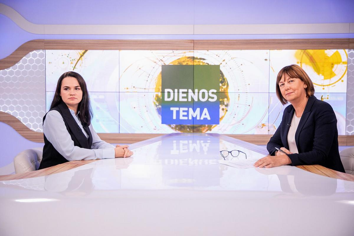 Тихановская дала интервью в Литве / фото lrt.lt