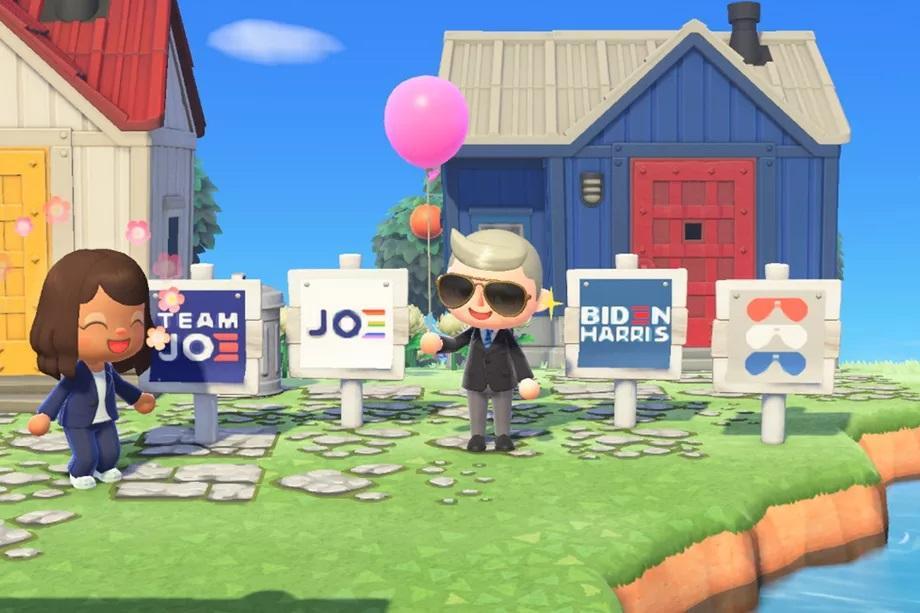 Так выглядит агитация Байдена в Animal Crossing / фото theverge.com