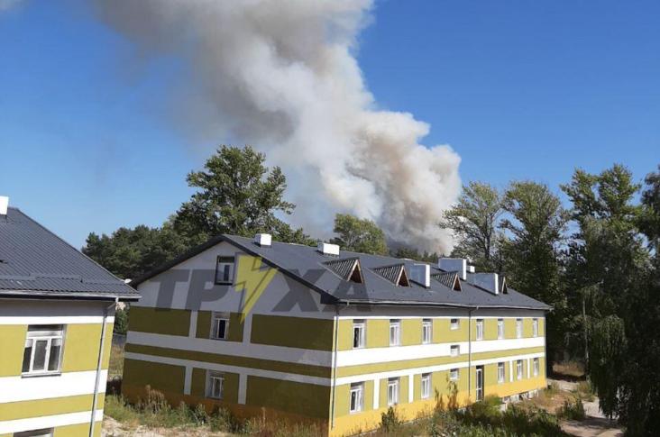 На Харьковщине - крупный лесной пожар / ТРУХА Харьков