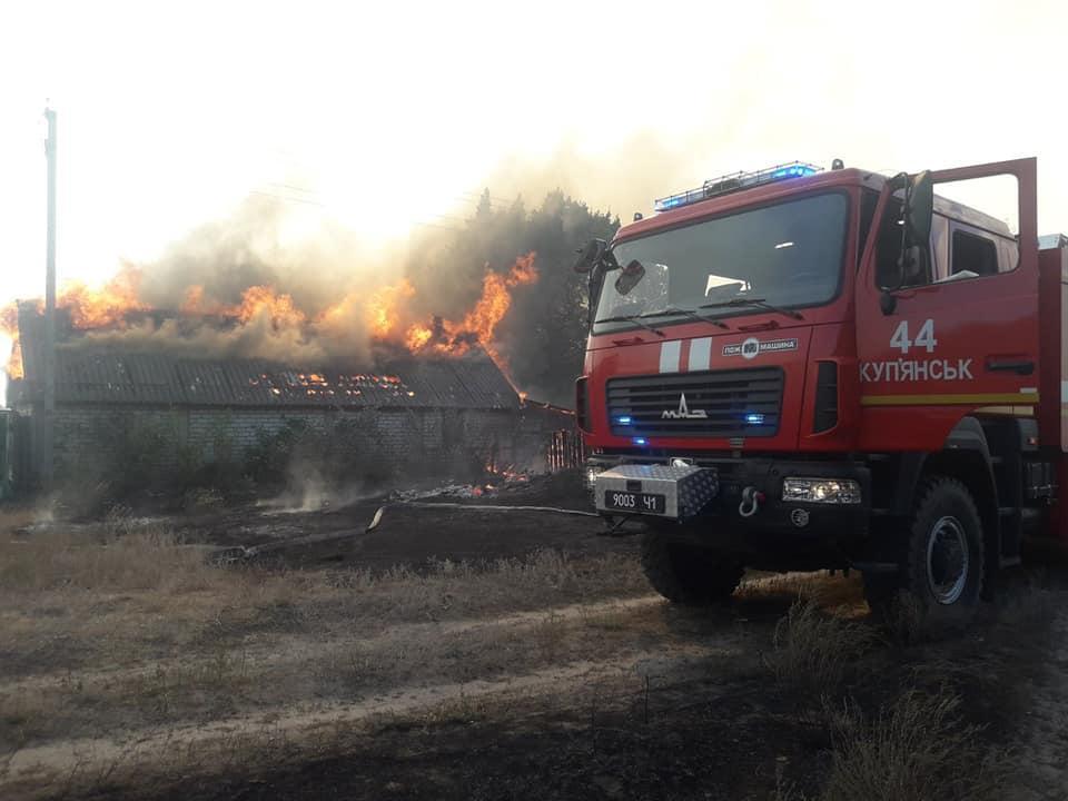 В ликвидации пожара задействовано наземную технику, авиацию и пожарный поезд / фото dsns.gov.ua