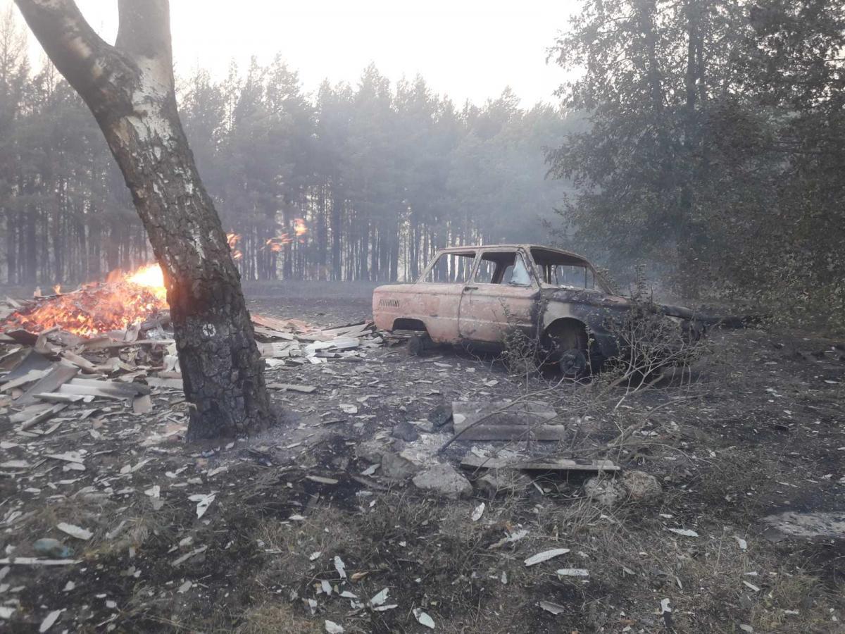 Во время ликвидации пожара на Донбассе исчезли двое военных / фото ГСЧС
