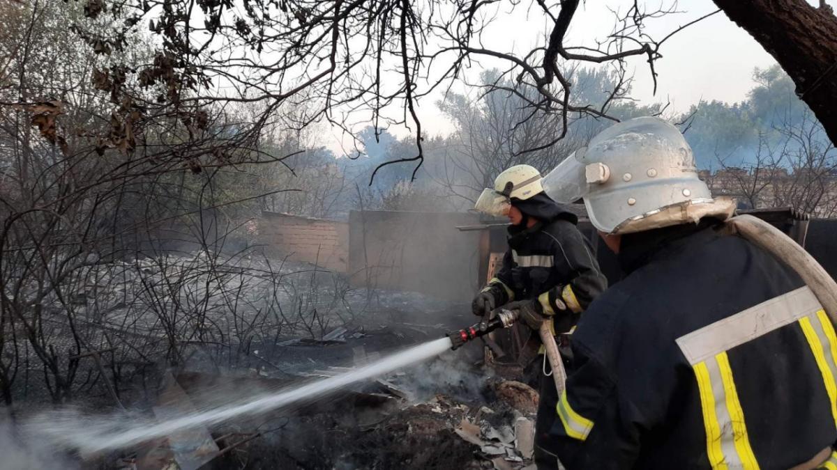 Ліквідація пожеж триває / фото ДСНС