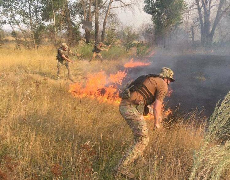 Пожары на востоке вспыхнули вчера вечером / facebook.com/odalug