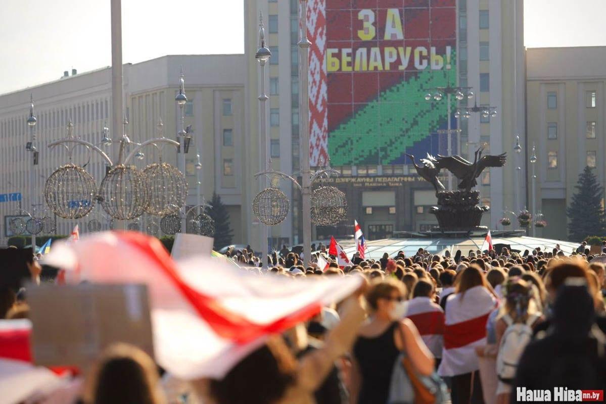 1 вересня відбулася перша акція протесту білоруських студентів / TUT.BY