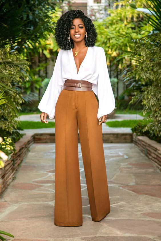 Широкие штаны / фото pinterest.com