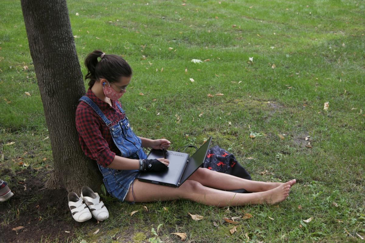 Сидячий протест у Харкові / фото facebook.com/HudenkoIhor