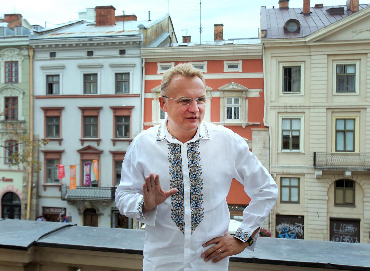 Мэр Львова Андрей Садовый побеждает на выборах / фото  (Александр Синица)