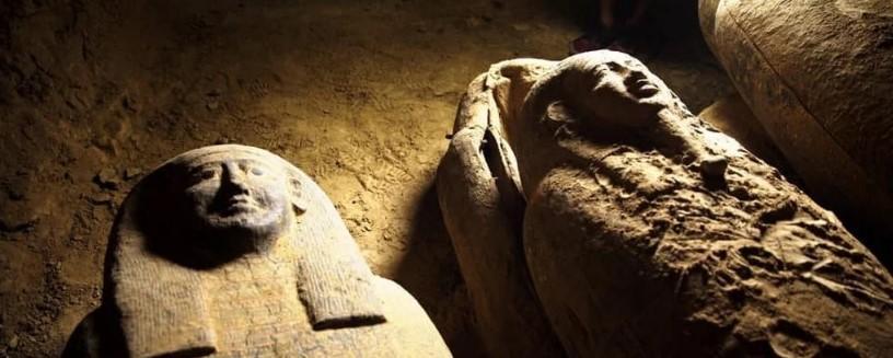 Археологи обнаружилив Саккаре160 гробов состанками \ фото Министерство туризма и древностей Египта