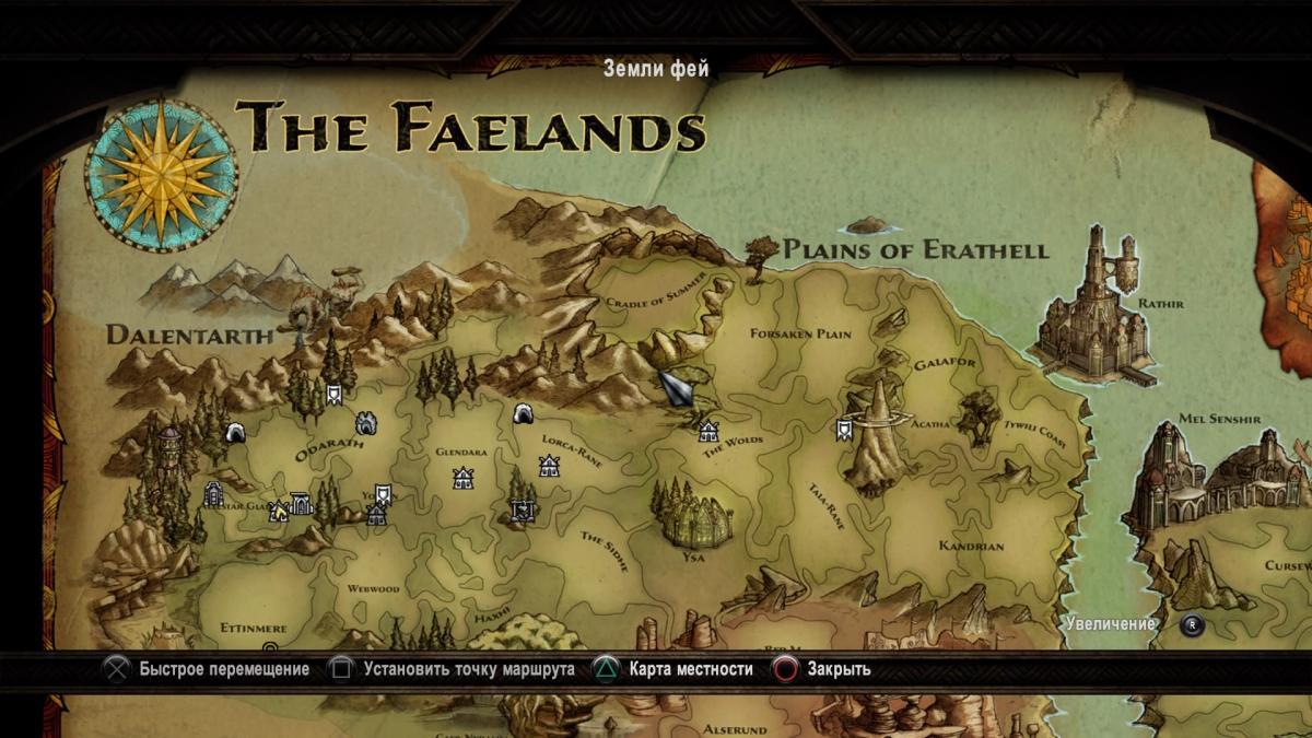 Это далеко не вся карта Королевств Амалура / скриншот