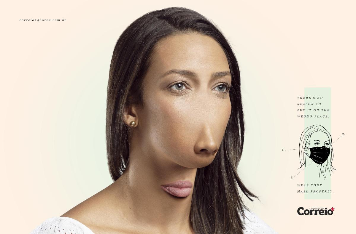 Чтобы носить маску на подбородке, нужно выглядеть так/Propeg,adsoftheworld.com
