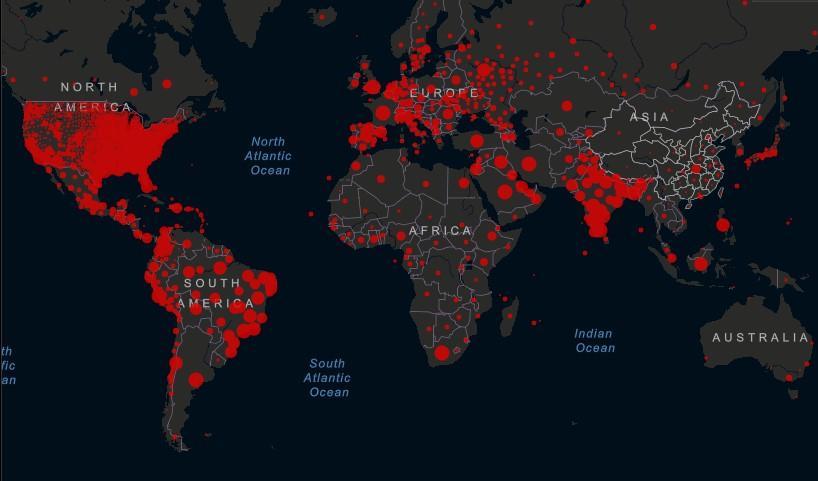 Ситуация с коронавирусом в мире 11 сентября / Скриншот