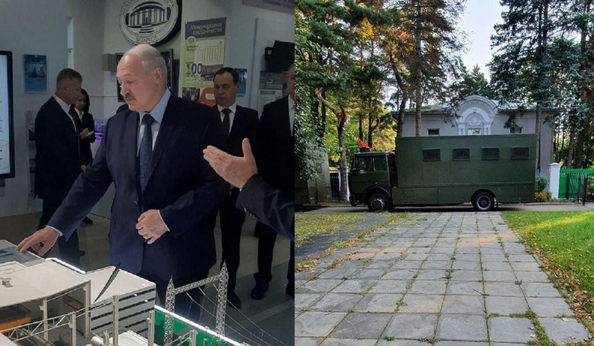 В планах Лукашенко – знакомство с выставкой научных и научно-технических достижений / фото: Пул Первого, БЕЛТА