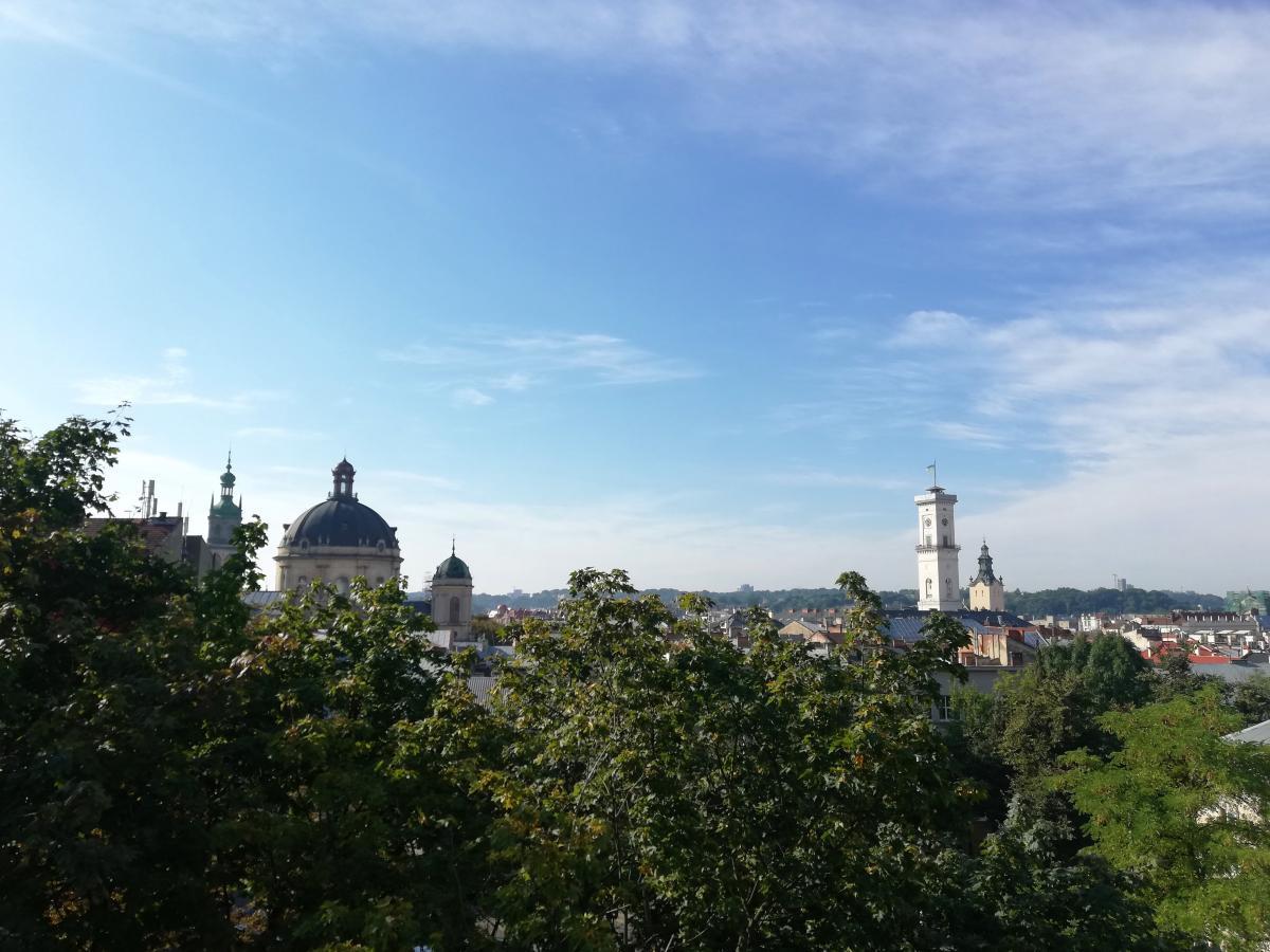 Панорама Львова з оглядового майданчика меморіалу / фото Марина Григоренко